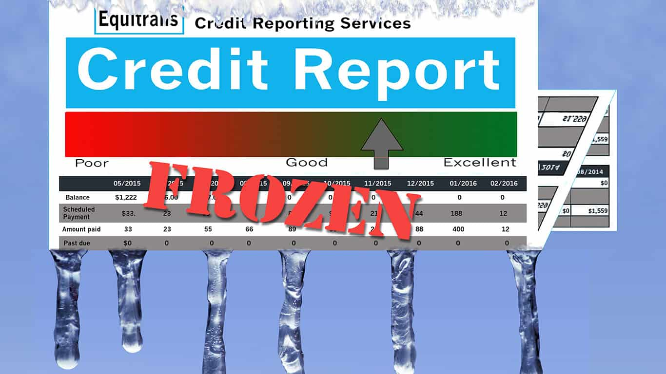 "You forgot to ""unfreeze"" your credit report"