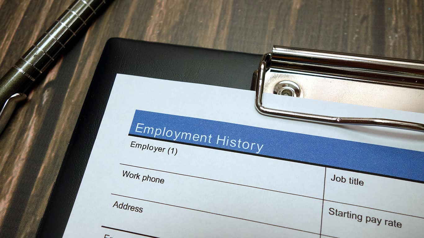 You have a spotty employment history