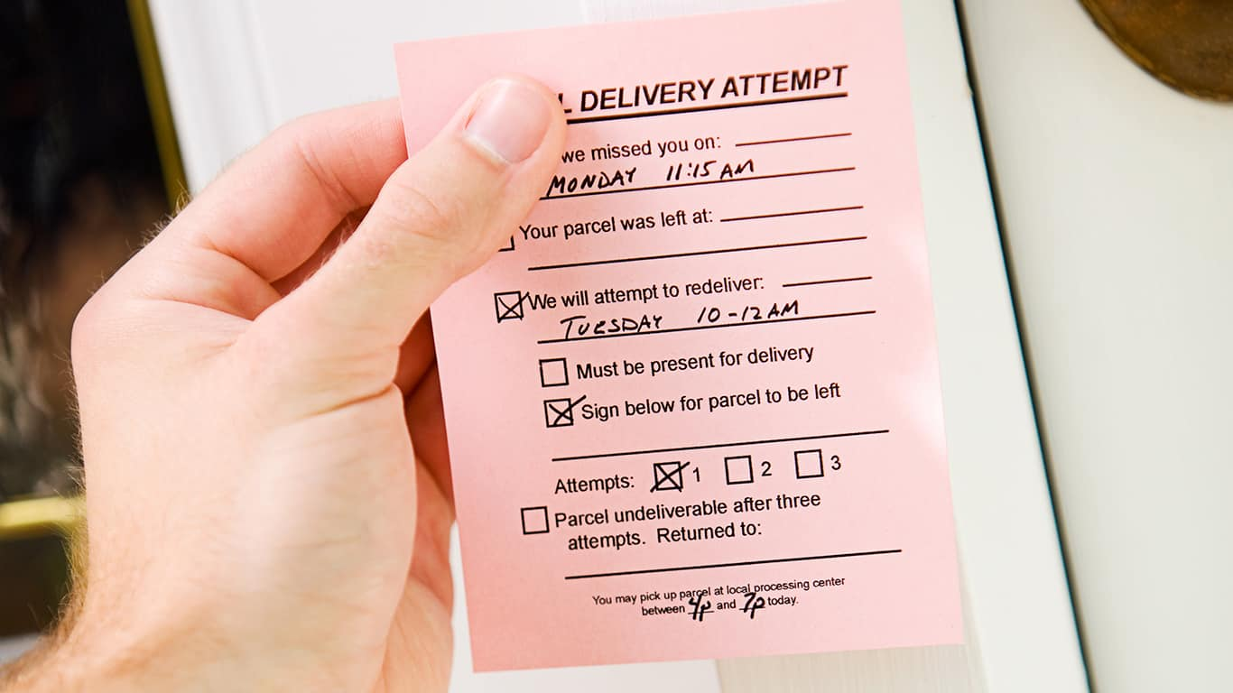 """Fake """"missed delivery"""" notices"""