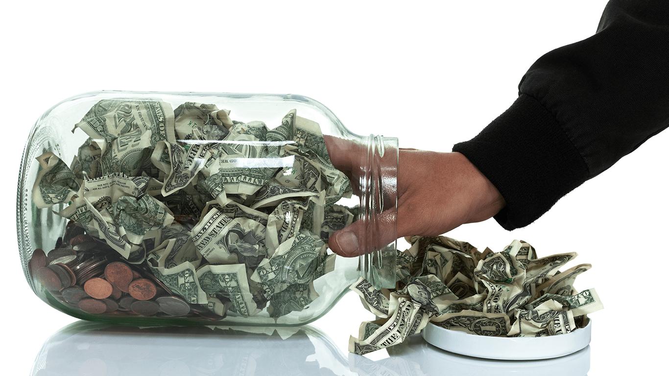 Taking money from savings