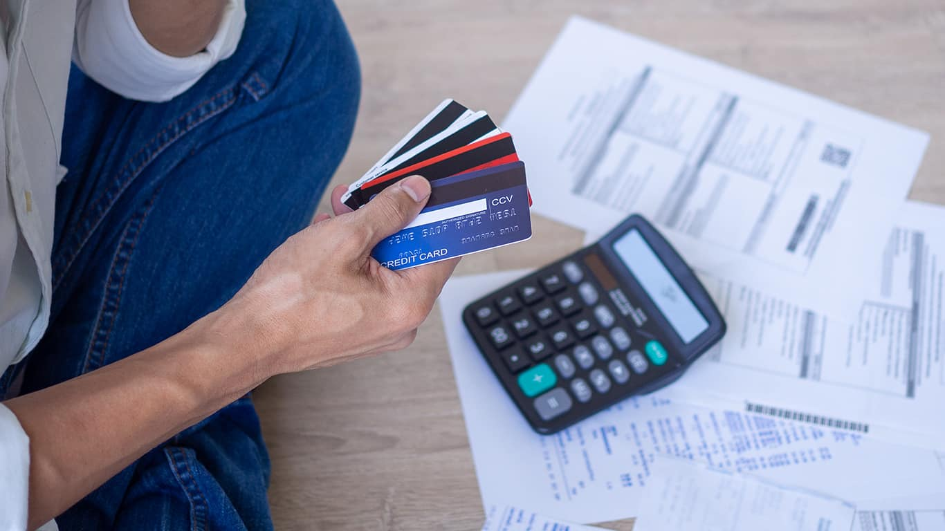 You have lots of credit card debt