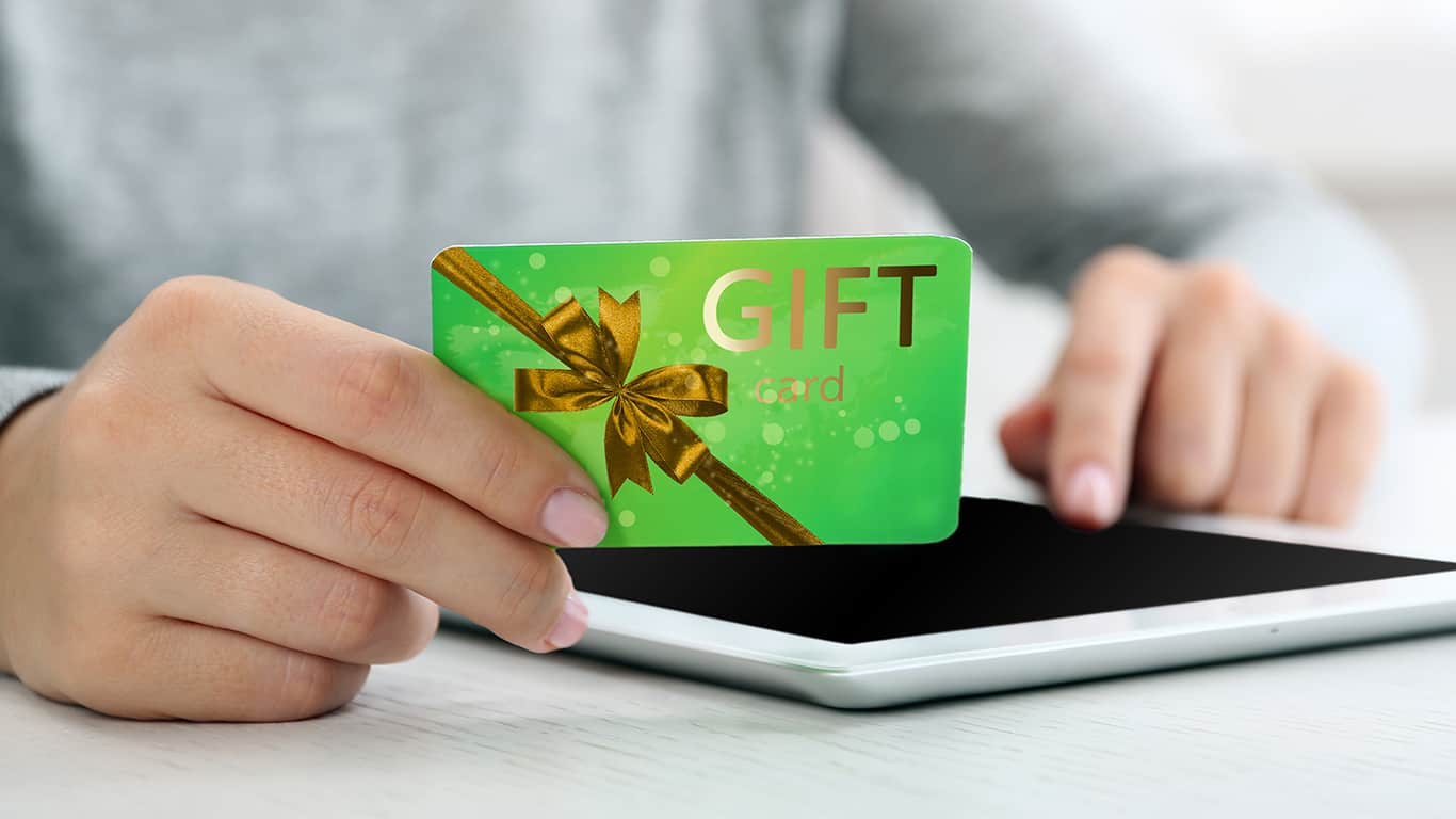 Use holiday gift cards