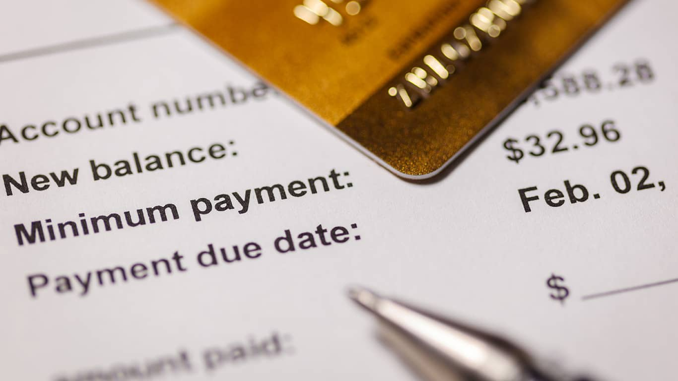 You can afford to make only minimum payments