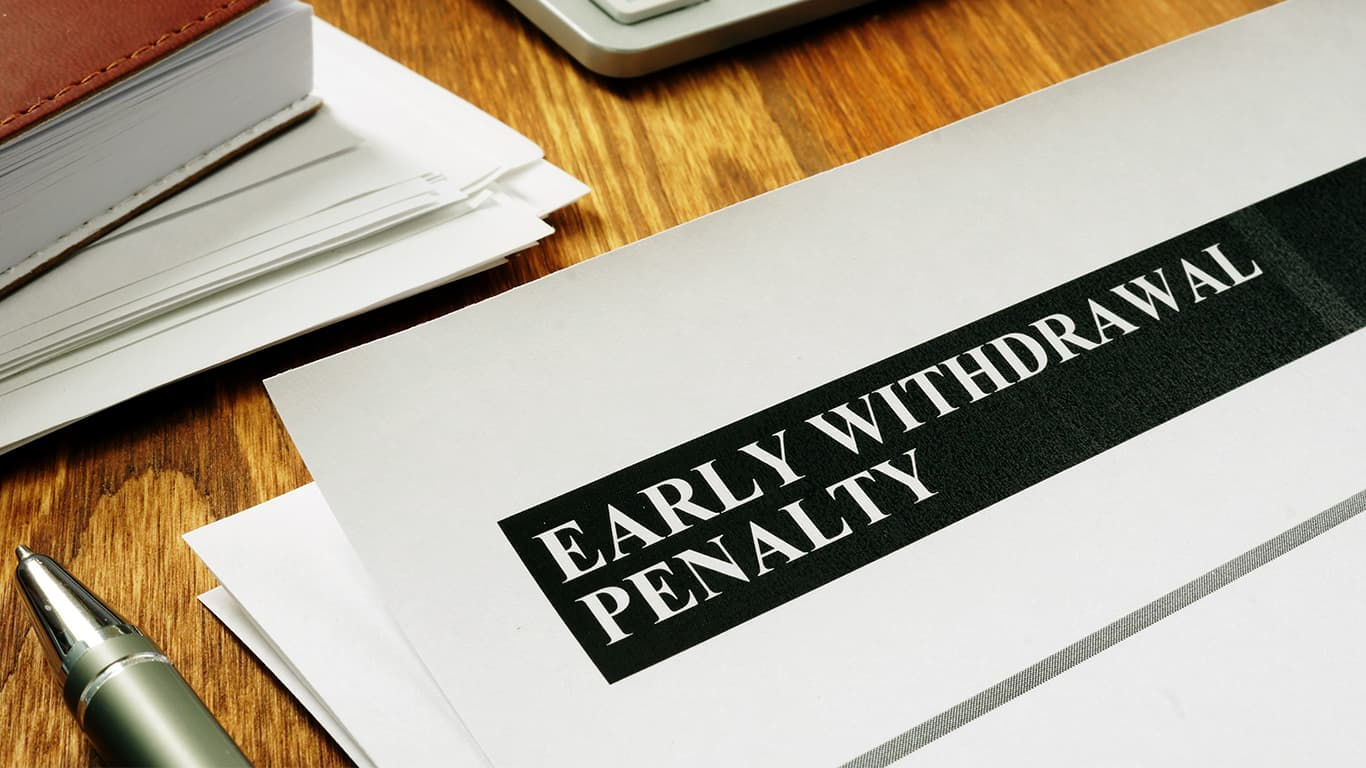 Early withdrawal penalty waived