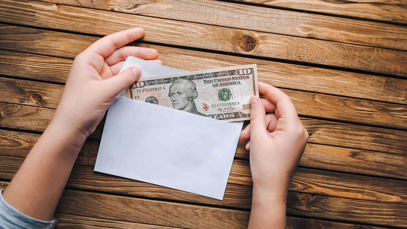 Use a cash envelope system