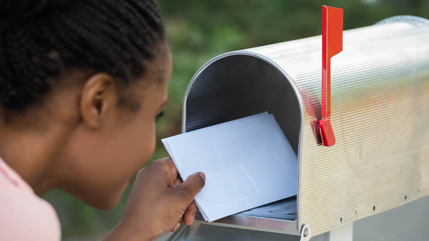 Bills missing from the mailbox