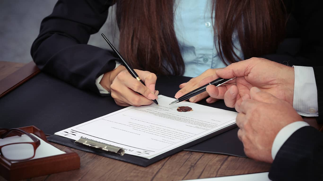 Who is the power of attorney for finance?