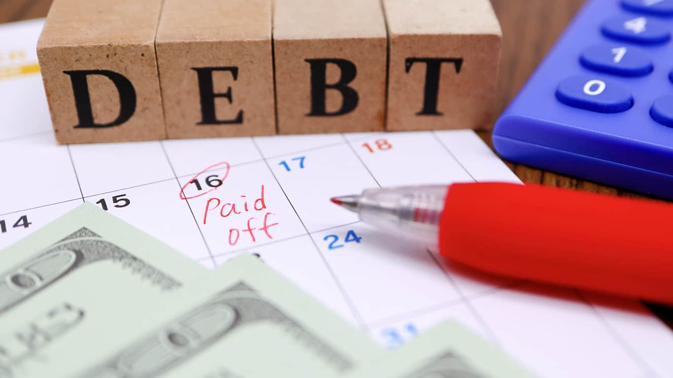 Pay off one debt