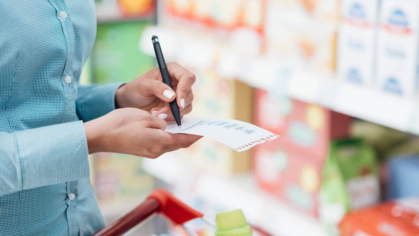 Prepare a grocery list