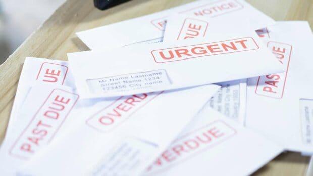Unpaid Medical Bill factura médica