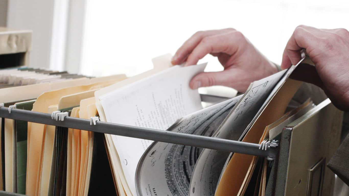 Store important documents safely
